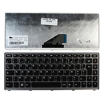 Lenovo AELZ7F00010 Silver Frame Black French Layout Replacement Laptop Keyboard