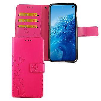 Cubierta del bolso de la caja móvil Samsung Galaxy S10e tapa ranura rosa caso