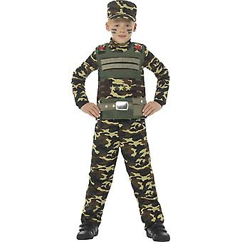 Traje de camuflaje militar niño
