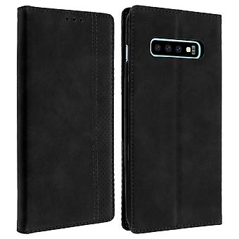 Samsung Galaxy S10 Plus Case Folio Case Card Holder Function Support - Black