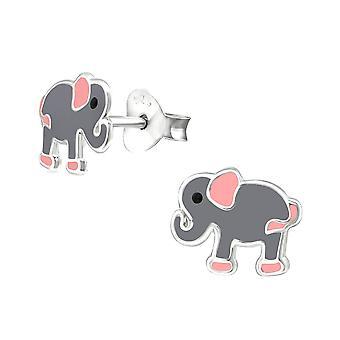 Kinderen Sterling Silver Elephant Stud Oorbellen