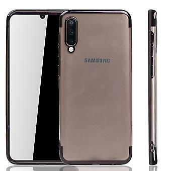 Handyhülle für Samsung Galaxy A50 Schwarz - Clear - TPU Silikon Case Backcover Schutzhülle in Transparent   Schwarz