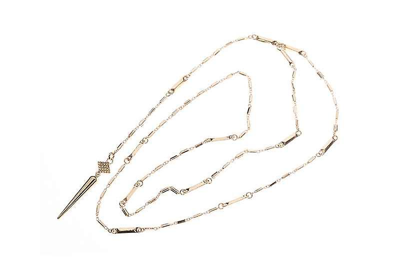 Long Dainty Lariat Chain Of Tenderness Y Necklace