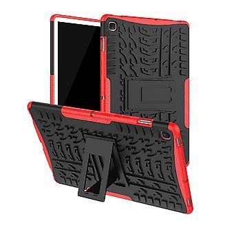 For Samsung Galaxy Tab S5e 10,5 T720F hybrid udendørs sag rød taske Cover etui