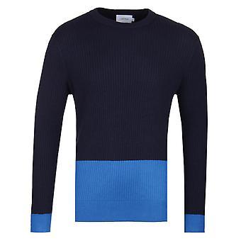 Calvin Klein villaa puuvilla Navy väri estää pusero