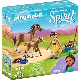 Playmobil DreamWorks Spirit 70122 Pru mit Pferd und Fohlen