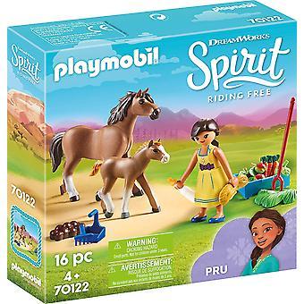 Playmobil DreamWorks Spirit 70122 Pru avec cheval et poulain
