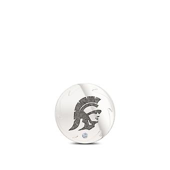 University of Southern California Diamond Pin In Sterling Silver Design by BIXLER