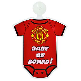 Manchester United FC Official Football Kit Baby On Board Car Window Sign