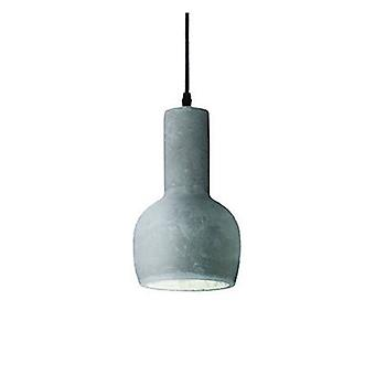 1 Light Ceiling Pendant Cement Grey