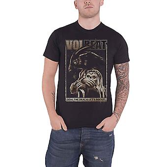 Volbeat T Shirt Seal the Deal and Lets Boogie Goat Logo Official Mens New Black