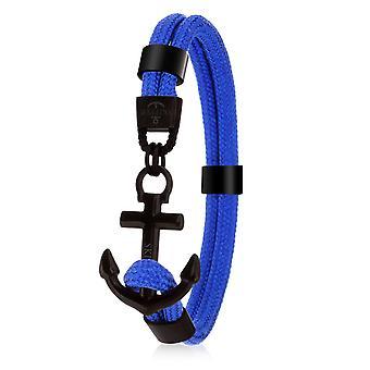 Skipper Anchor Bracelet Surfer Band Maritime Bracelet Stainless Steel Dark Blue 8074