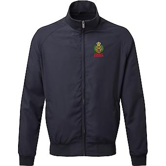 Royal ingeniører Combat Engineer-licenseret British Army broderet Harrington jakke
