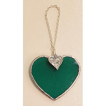 Simmerdim Design Small Dark Green Heart Heart