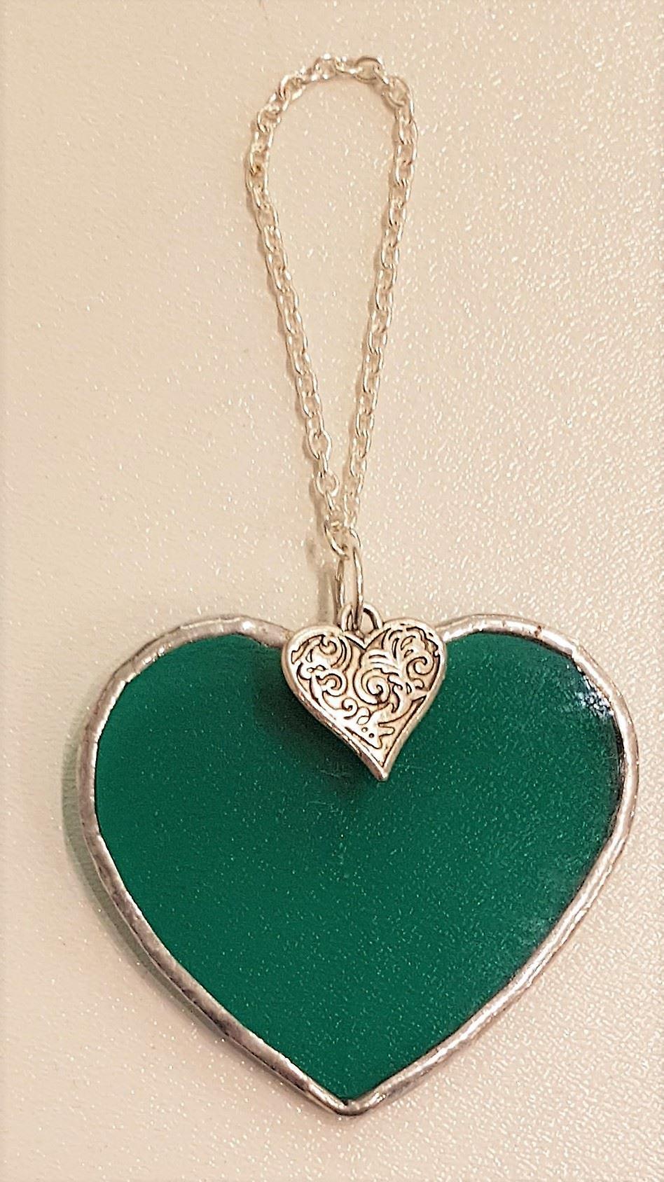 Simmerdim Design Small Dark Green Heart Heart