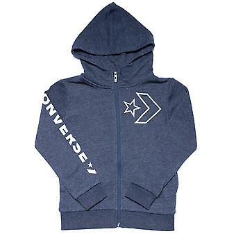 Infant Boys Converse Outline Star Chevron FZ Hoody in Navy