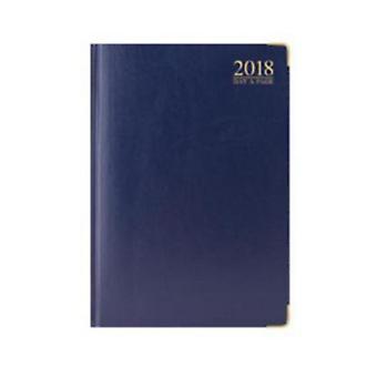 Tallon 2018 A4 DAP Blue Padded Gilt Edged Desk Diary