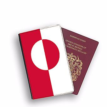 GREENLAND Flag Passport Holder Style Case Cover Protective Wallet Flags design