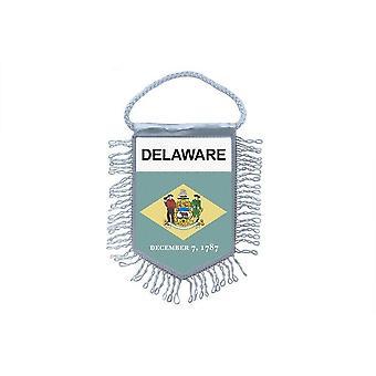 Sinalizar mini bandeira país carro decoração EUA EUA Delaware