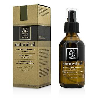 Natural Oil - Olive Jojoba & Almond Organic Massage Oil Blend - 100ml/3.4oz