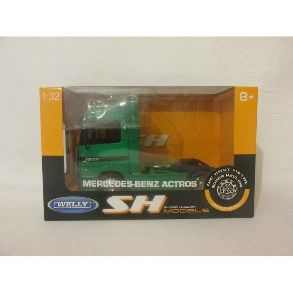 Welly Super Haulier - Mercedes-Benz Actros Green  1:32