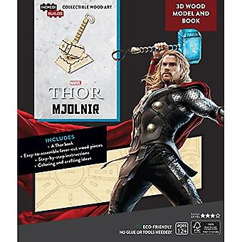 IncrediBuilds Marvel: Avengers: Thor 3D Wood Model and Book