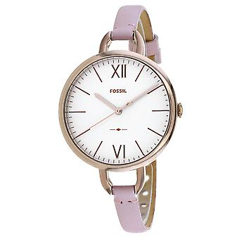 Orologio fossile donna's Annette White Dial Watch - ES4356