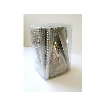 Party Pack For 24 People, Silver Holographic.