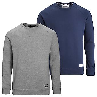 Bjorn Borg Mens BB Core Brossé Fleece Crew Neck Raglan Pull