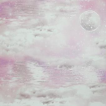 Wodniste niebo chmura tapety Różowy Arthouse 692501