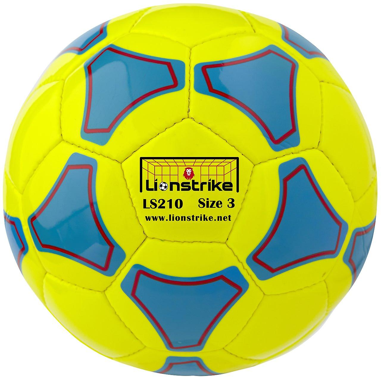 Lionstrike 210 leather football (size 3) - yellow