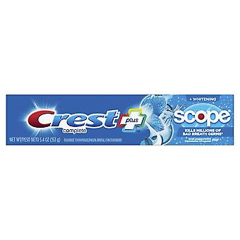 Crest + scope complete whitening toothpaste, cool peppermint, 5.4 oz