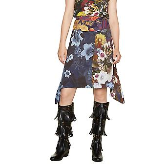 DESIGUAL γυναίκες ' s floral riddim πλωτήρα κυματιστό στρίφωμα φούστα