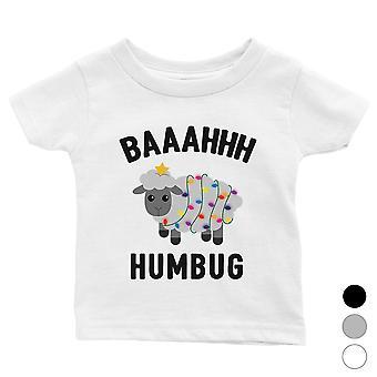 Baaahhh Humbug linda Navidad Bebé Camisa Regalo de Navidad