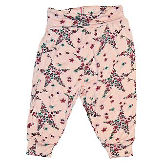Spodnie dla niemowląt śmigają jasnoróżowy z gwiazdami