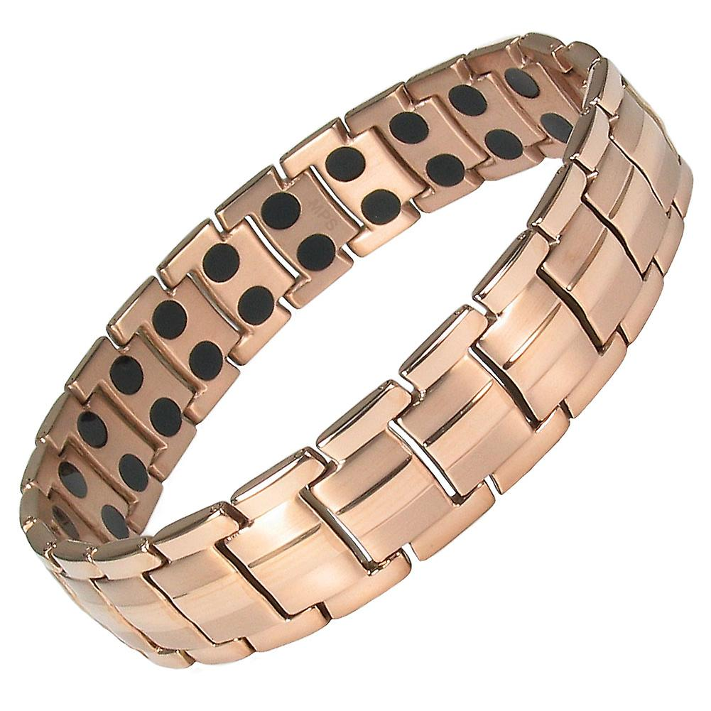 MPS® EUROPE Rose Gold Titanium Magnetic Bracelet + FREE Links Removal Tool