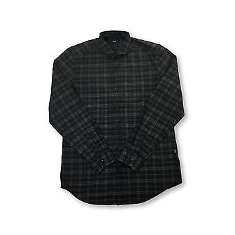HUGO BOSS Lennie regular fit cotton shirt in black and grey check