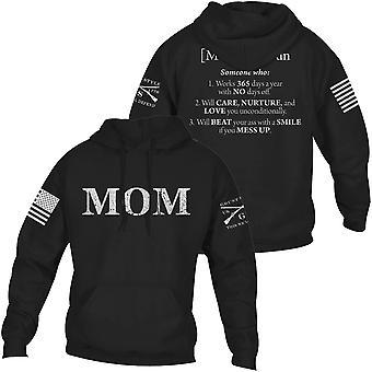 Grunt Style Mom Defined Pullover Hoodie - Black