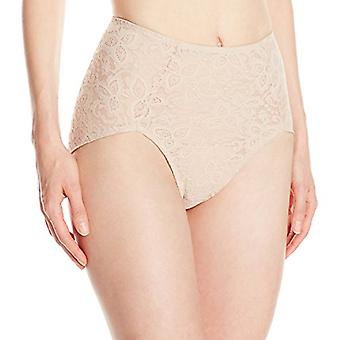 Bali Women's Shapewear Lace N Smooth Brief, Nude, Large, Nude, Size Large