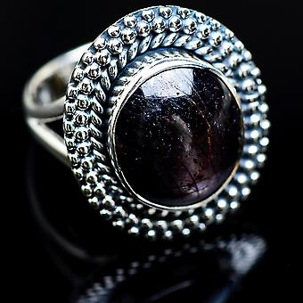 Star Ruby Ring Size 6 (925 Sterling Silver)  - Handmade Boho Vintage Jewelry RING988555