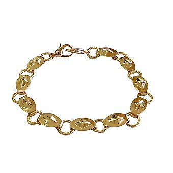 Oval-Round Ring Gold Chains
