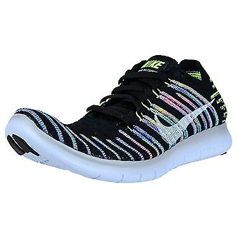 Nike Womens Free RN Flynit Fabric Low Top Lace Up Running Sneaker