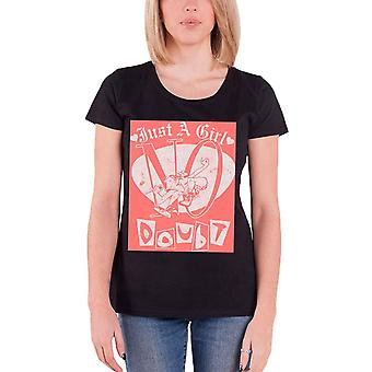 No Doubt T Shirt Just a Girl Gewn Stefani new Official Womens Skinny Fit Black