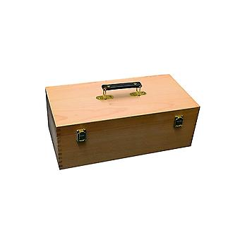 Artists Wooden Storage Box with Handle & Pull Out Tray