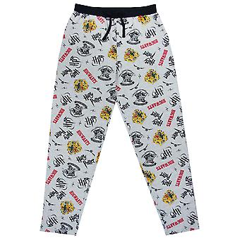 Harry Potter Jogging Bottnar Hogwarts Crest Män & apos, lounge byxor Pyjama Bottnar