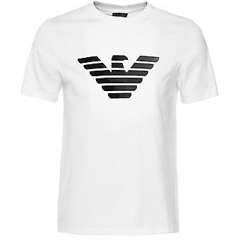 Armani Flock Print Logo T-Shirt
