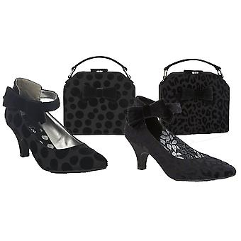 Ruby Shoo Femmes-apos;s Cressida Ankle Strap Court Chaussures et Sac Desanta Fe assorti