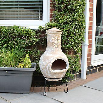 Calentador de Patio al aire libre Medio Natural arcilla Chiminea Charles Bentley