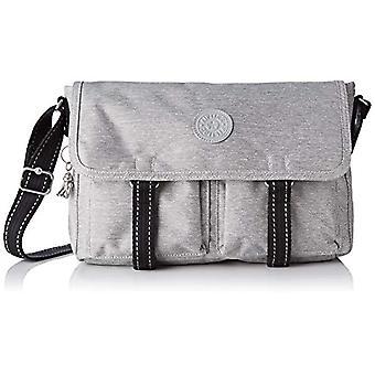 Kipling Ikin - Grey Women's Shoulder Bags (Chalk Grey) 35x24x11cm (B x H T)