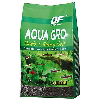 Ocean Free Aqua Gro Sustrato Fúrtil 3L (Balık , Dekorasyon, Çakıl ve kum)
